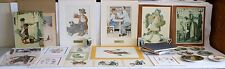 NORMAN ROCKWELL COLLECTION LOT OF 31 PRINTS-PLATES-CUPS-BOOKS Beautiful