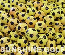 24 AA Callaway Chrome Soft Yellow/Black Truvis Used Golf Balls (2A) - FREE SHIP