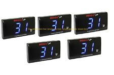 X5 Pcs - New KOSO Slimline Oil/Water Thermometer LED Temperature Gauge - Blue