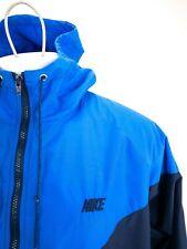 Vintage 80s Nike Blue Hooded Full Zip Windbreaker Mens Size Xl