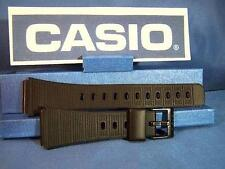 Casio Watch Band CA-50 and CA-60 Black Resin Strap. For Calculator Watch