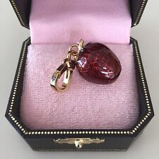 JUICY COUTURE GOLD & RED Retired MINI 3-D STRAWBERRY CHARM  New!! WOW
