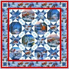 """Country Christmas Quilt Kit by Elizabeth's Studio 48-1/2x48-1/2"""""""