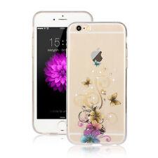 Bunte Schmetterling Hülle - Apple iPhone 7 PLUS Diamant Silikon Blumen Case 12