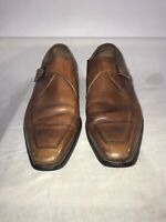 Joseph Cheaney Lindle Mens Vintage Monk Strap Brogues Tan Leather Shoes Uk 9 Ref