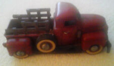 Vintage Toy Collectible Red Metal Truck License Plate Says 1958