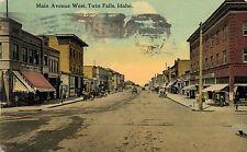 Twin Falls,Idaho,Main Street,Used,No Stamp,1914