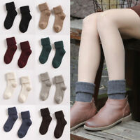 Women Cashmere Wool Warm Thermal Socks Soft Thick Comfort Xmas Dress Socks-RO