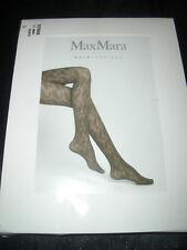 Max Mara Asia Inspired avec motifs Feinstrumpfhose taille L noir neuf dans sa boîte
