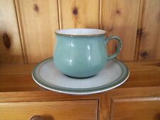 DENBY REGENCY GREEN CUP AND SAUCER
