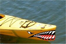 SHARK TEETH MOUTH DECAL STICKERS KAYAK CANOE JET SKI HOBIE DAGGER OCEAN TOWN xl