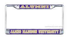 "JMU JAMES MADISON ""Alumni"" Chrome License Plate / Tag Frames"