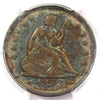 1853-O Arrows & Rays Seated Liberty Quarter 25C - PCGS XF Details - Rare Coin!