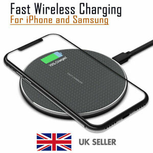 QI Fast Wireless Charger Charging Pad Dock for iPhone Android Samsung Cell Phone