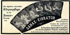 Sanax-vibratore fabbrica Sanitas Berlino storica promozionale 1913