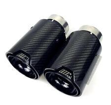 x2 Embout Echappement M Performance 63/93 Fibre de Carbone Brillant Bmw M3/M4/M6