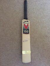 More details for alec stewart - signed - mini slazenger branded cricket bat - free p&p