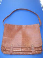 Vintage Brown Italian Leather Edelman Messenger Portfolio Shoulder Bag QUALITY