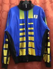 M 3 Vintage 1990s BIEMME Italy FLEECE LINED Cycling Jacket ROYAL BLUE Golden YL