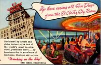 Two Postcards Sky Room at the El Cortez Hotel in San Diego, California~137469