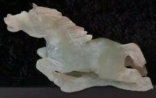 JADE HORSE 13 CM X 7 CM