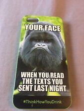 IPHONE 5S Plastic Phone Case Green Funny Joke Slight Dent Around Button