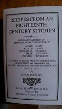 Recipes From An Eighteenth Century Kitchen Cooking 18th Colonial Food PB Booklet
