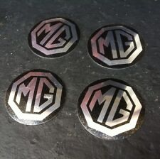 Wheel Centre Badges X 4 Black/ Silver Mgb Rostyle Wheel Centre Cap . OE ,BD4-D2