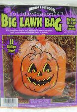 Happy Halloween Spooky Giant 32 Gl Size Orange Pumpkin Face Lawn Bag Prop