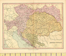 c1880 MAP ~ AUSTRIA-HUNGARY ~ BOHEMIA BOSNIA GALICIA TRANSYLVANIA