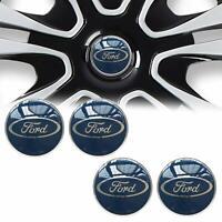 4x 59mm Ford bleue argent jantes couvercle moyeux capuchon roue enjoliveur caché