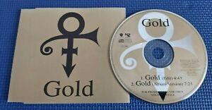 PRINCE GOLD 2 track EU PROMO CD single