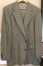 """Ralph Lauren Chaps""A Stylish Taupe Multi Color Mini Houndstooth Sport Coat 42L"