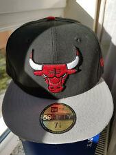 ☞ New Era Baseball Cap Chicago Bulls 59 Fifty NBA Lizenziert Schwarz-Grau NEU