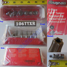 New Snap On 14 Torx Tamper Resistant Bit Amp Universal Joint 6 Pcs Set 106ttxr