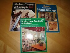 LOT ON PLAN BUILD BOOKCASES CABINETS SHELVES CLOSETS COMPLETE HOME STORAGE