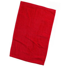 New Pack of 24 Red Rally Promo Towels w/ Hemmed Ends 10x17 100% Cotton
