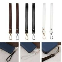 21cm Genuine Leather Buckle Wrist Strap Hands-Free Wristlet for Purse/Clutch HQ