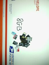 8GB MICRO SD CARDS $50 NOW USED