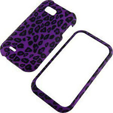 For T-Mobile LG myTouch Q HARD Protector Case Snap on Phone Cover Purple Leopard