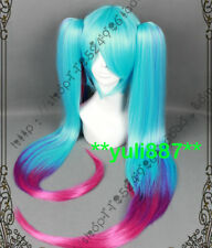 LOL League of Legends/Sona Buvelle Multi-Color Gradient Two Ponytail Cosplay Wig