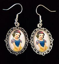 Snow White Disney Antique Silver Drop Earrings Cute