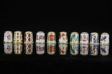 Vintage Royal Crown Derby China set of 10 Thimbles