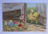 Ostern, Küken, Ostereier,    1907, Prägekarte ♥ (65253)