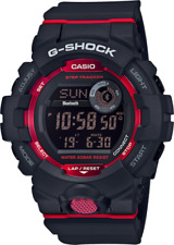 New Casio G-Shock G-Squad Step Tracker Black Resin Strap Watch GBD800-1