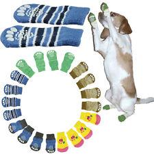4 piezas mascota perros Calcetines ANTIDESLIZANTE Punto Algodón Suave Calcetín