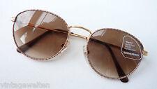 Marken Sonnenbrille Panto Metall klassisch leicht Damen Herren 100% UV  size M