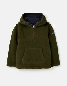 Joules Boys Whitacre Overhead Fleece Hoody  - Dark Green - 9Yr-10Yr