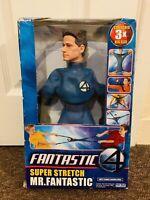 """Rare Mr Fantastic from Fantastic 4. Super Stretch Toy Biz 13"""" Figure"""