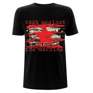 Official Rage Against The Machine T Shirt Newspaper Star Black Classic Rock Band